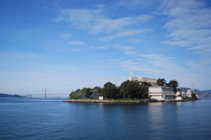 Alcatraz Island with the Golden Gate Bridge. Photo by Shelagh Fritz