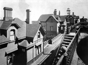 Officers' Row homes in 1893. Photo courtesy of NARA archives